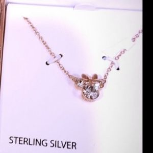 Brand new stearling silver disney necklace